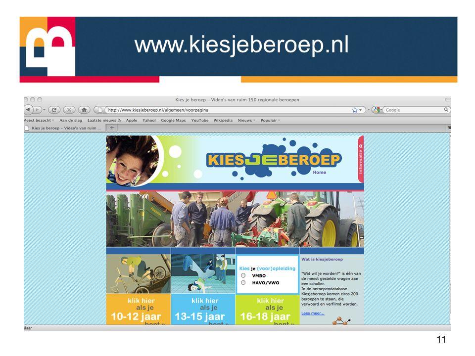 www.kiesjeberoep.nl 11