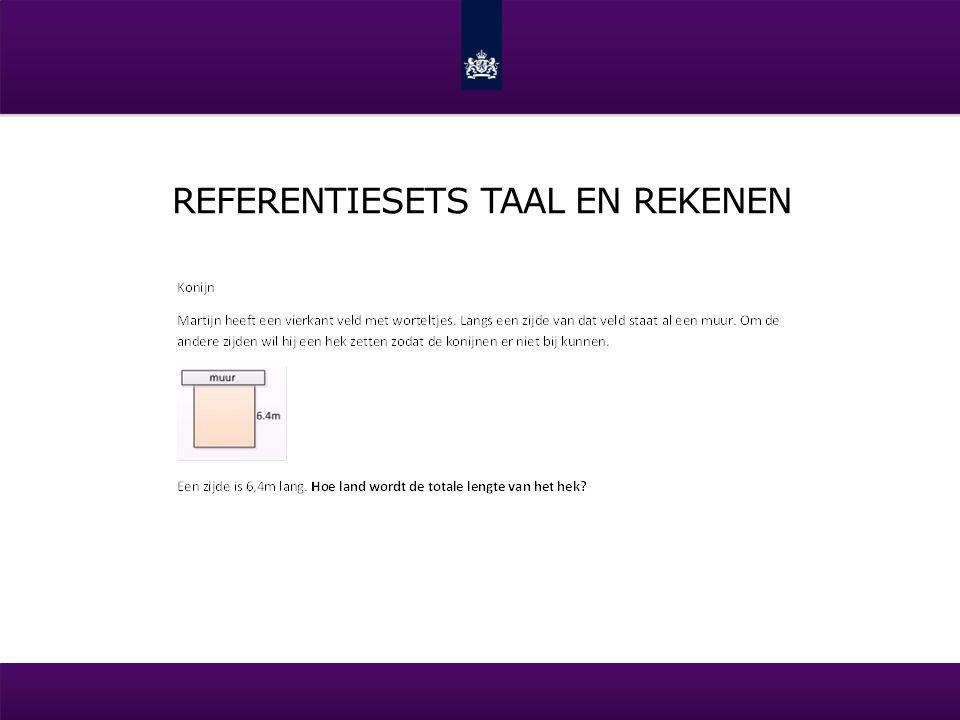 REFERENTIESETS TAAL EN REKENEN