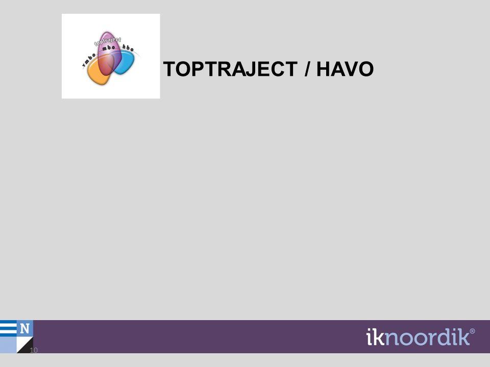 TOPTRAJECT / HAVO 10