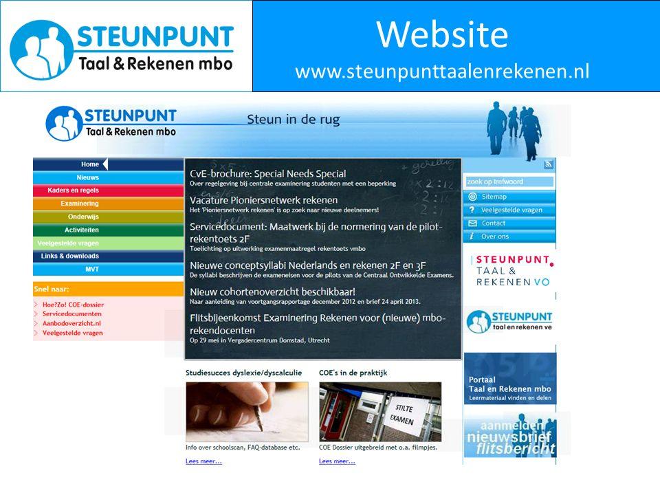 Website www.steunpunttaalenrekenen.nl