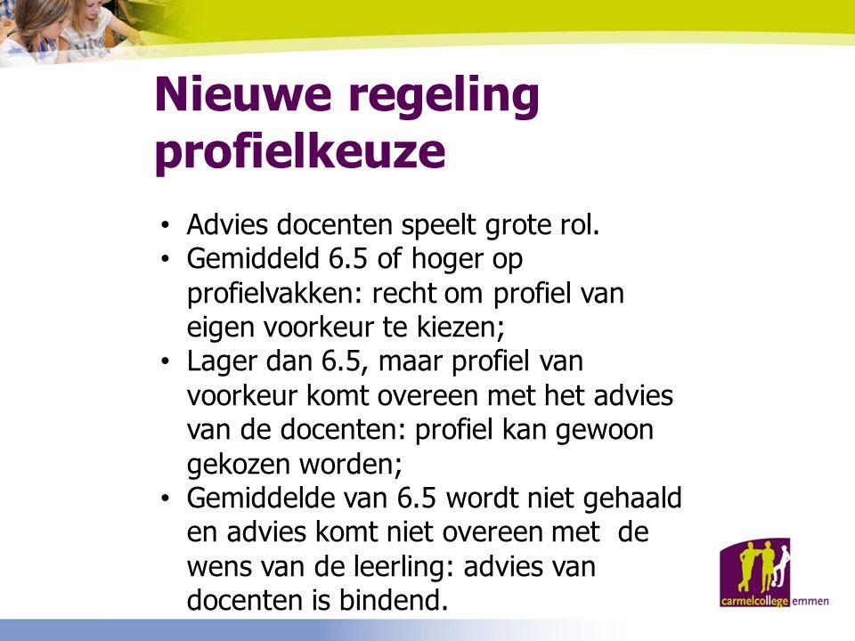 Nieuwe regeling profielkeuze Advies docenten speelt grote rol.