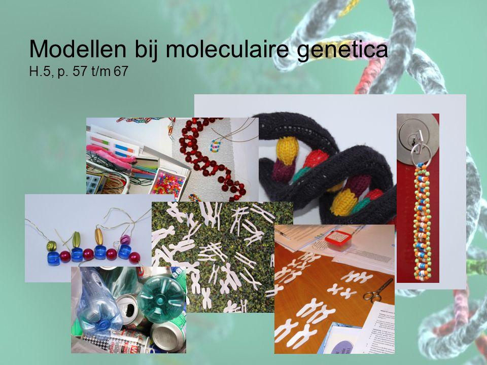 Modellen bij moleculaire genetica H.5, p. 57 t/m 67
