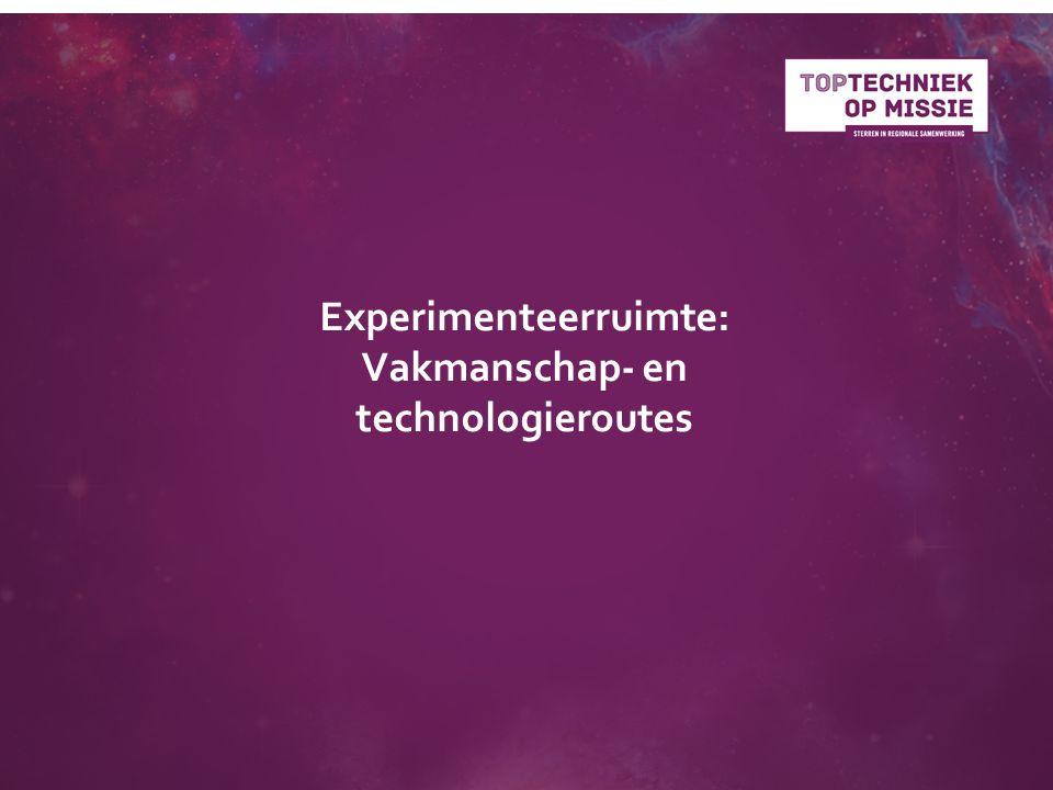 Experimenteerruimte: Vakmanschap- en technologieroutes