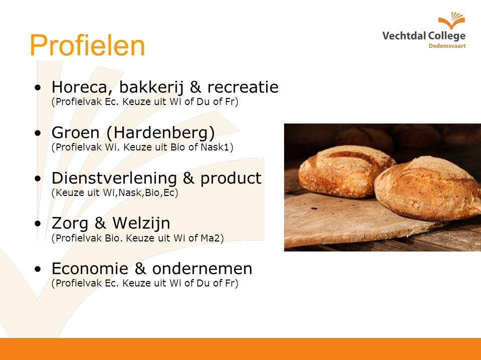 Profielen Horeca, bakkerij & recreatie (Profielvak Ec.