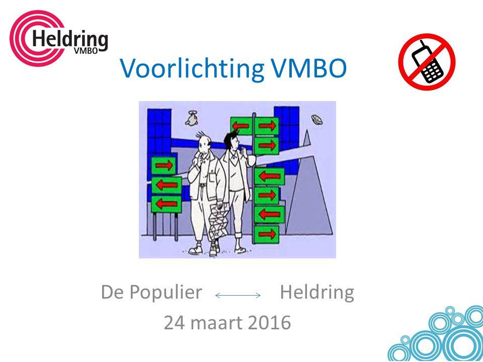 Voorlichting VMBO De Populier Heldring 24 maart 2016