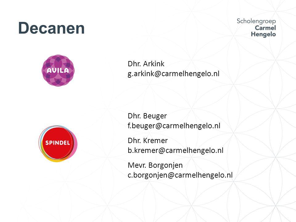 Decanen Dhr. Arkink g.arkink@carmelhengelo.nl Dhr.