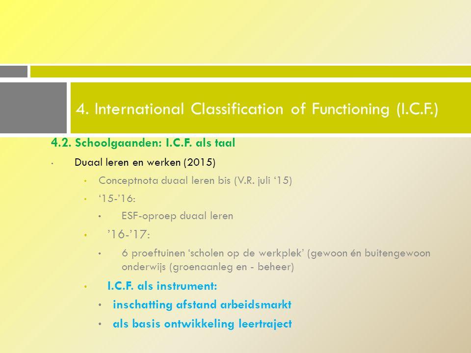 4.2.Schoolgaanden: I.C.F. als taal Duaal leren en werken (2015) Conceptnota duaal leren bis (V.R.