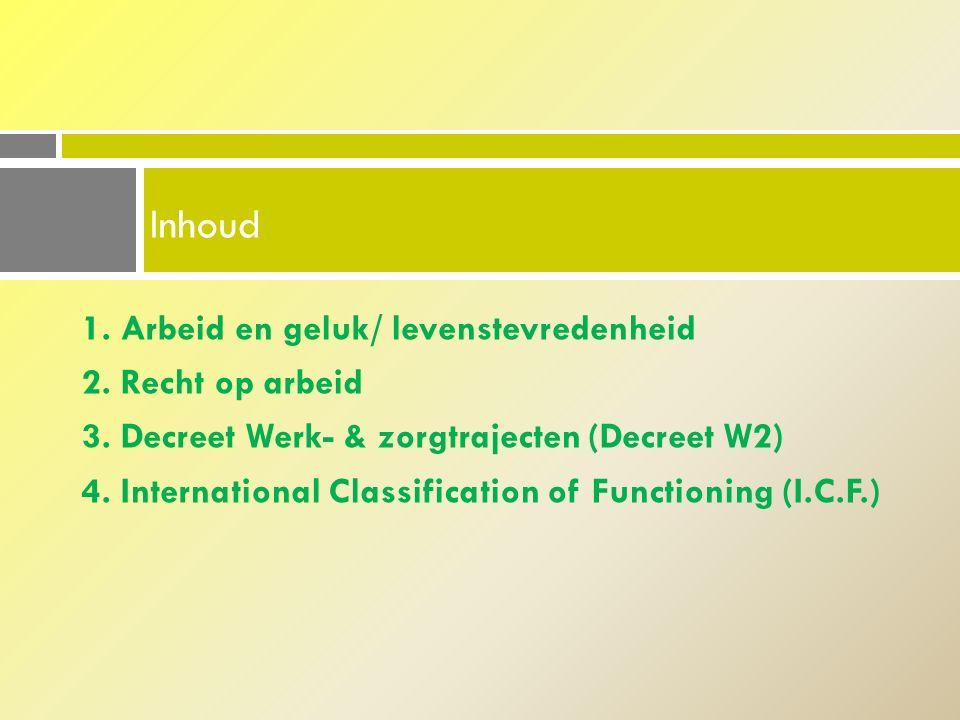 4.1.Werkzoekenden I.C.F. als indiceringsinstrument I.C.F.