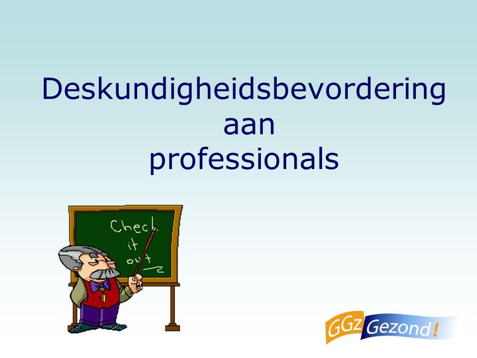 Deskundigheidsbevordering aan professionals