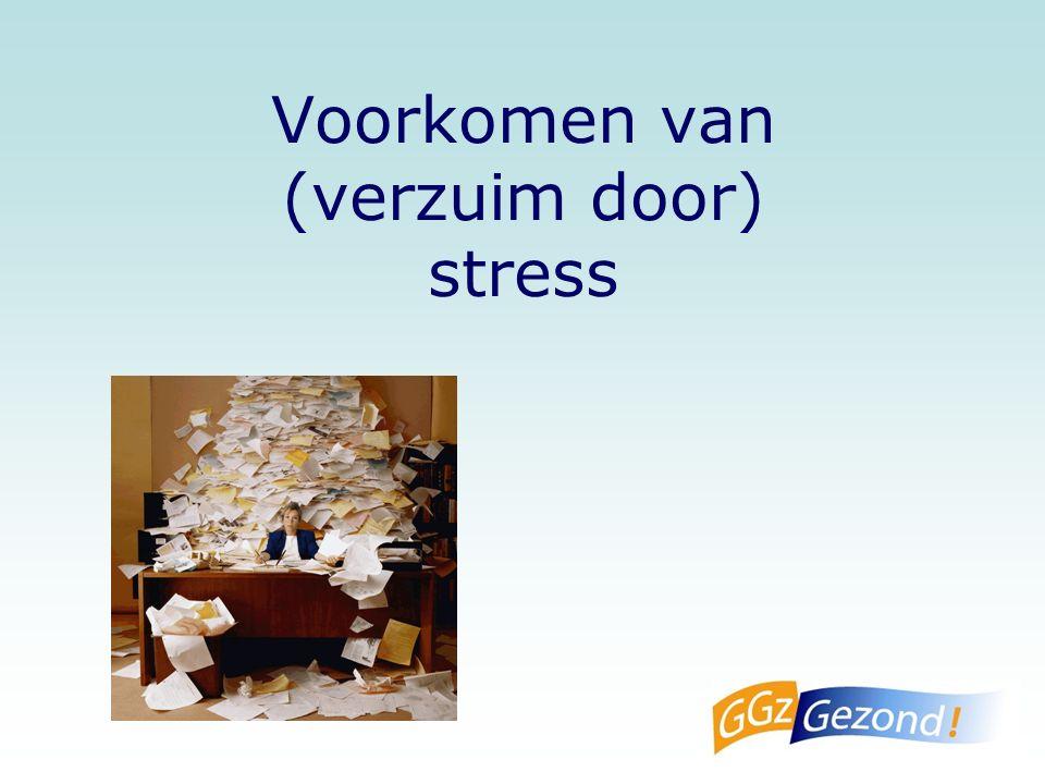 Voorkomen van (verzuim door) stress