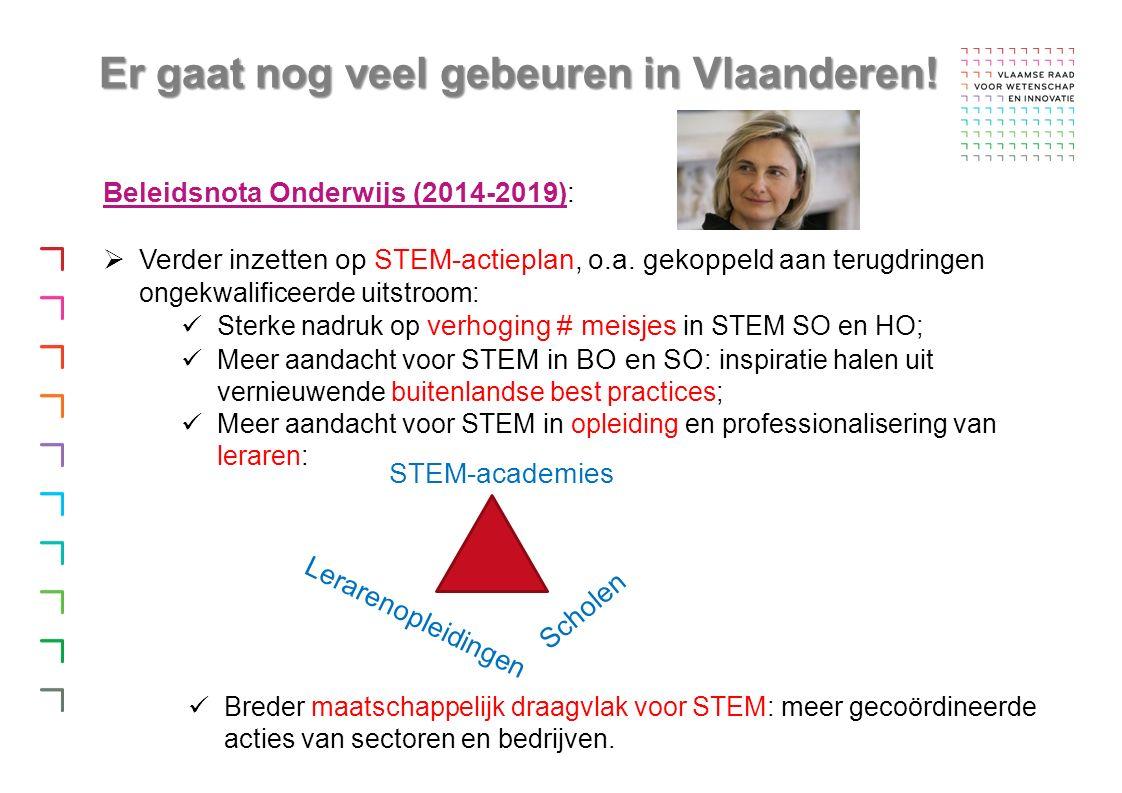 Er gaat nog veel gebeuren in Vlaanderen.