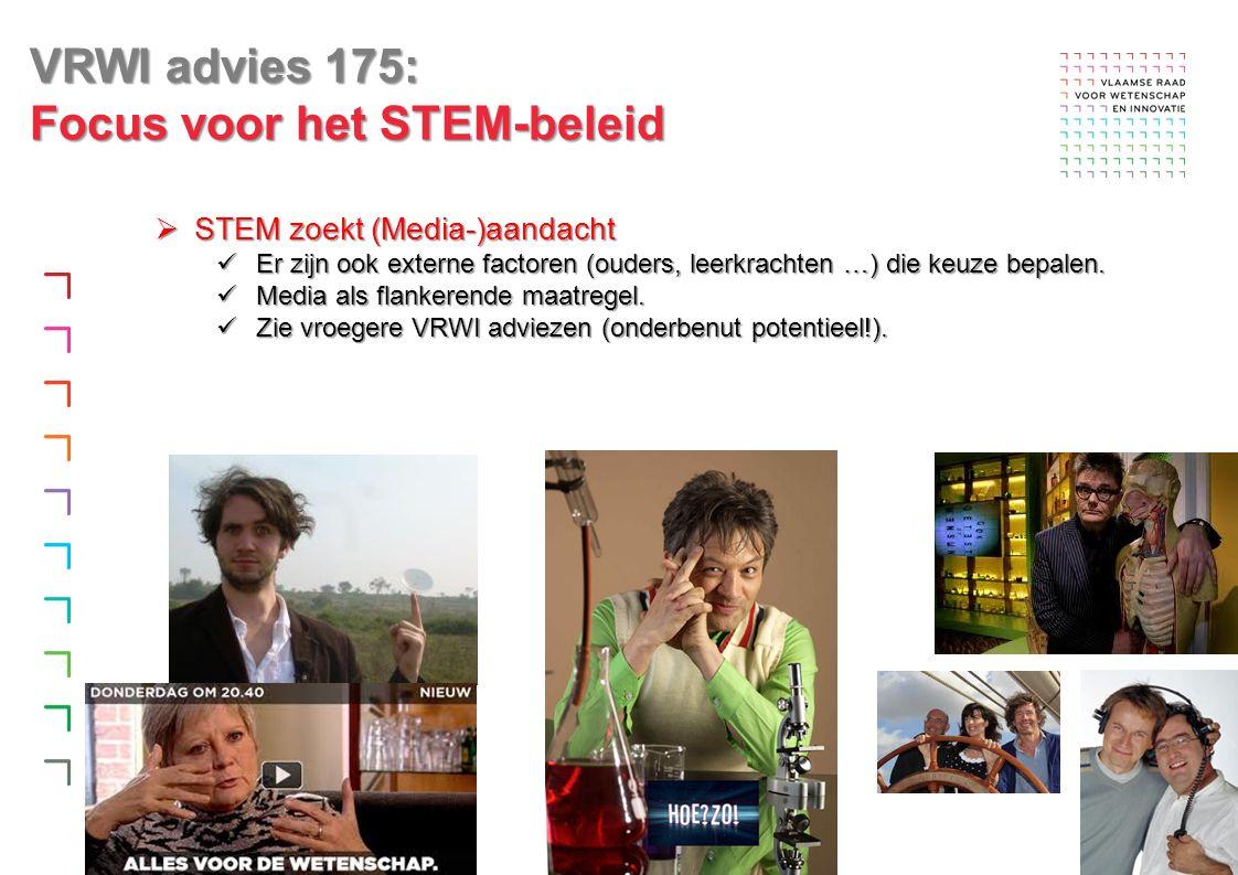  STEM zoekt (Media-)aandacht Er zijn ook externe factoren (ouders, leerkrachten …) die keuze bepalen.