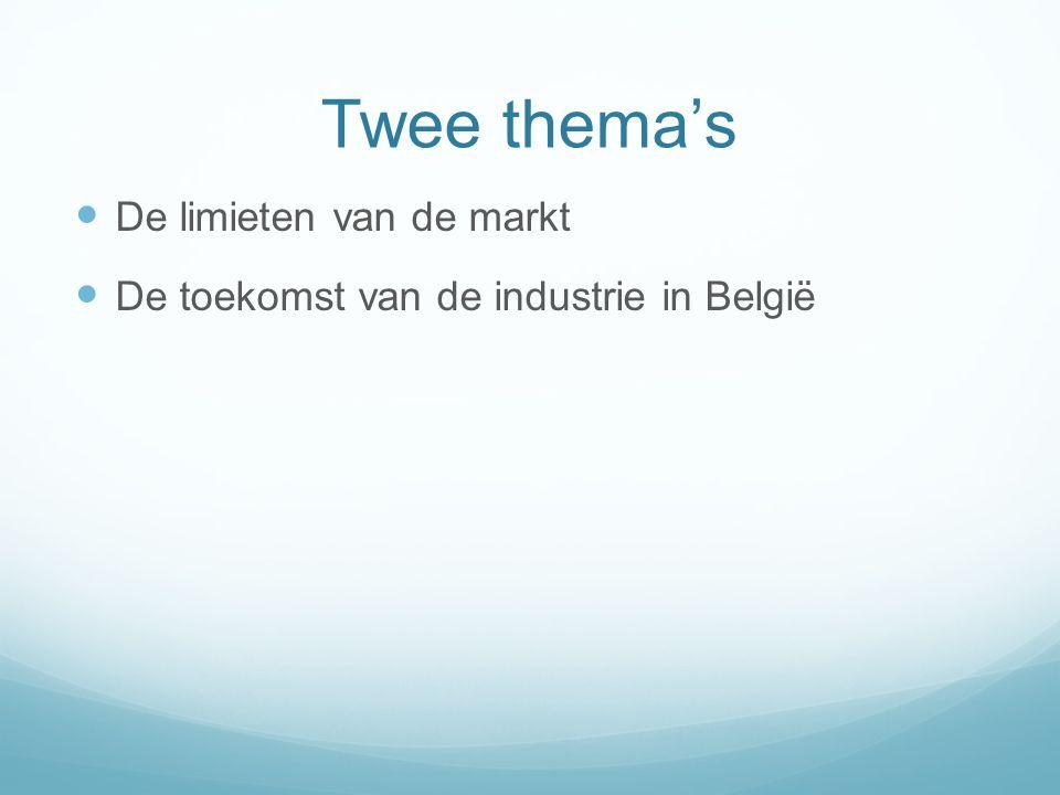 Twee thema's De limieten van de markt De toekomst van de industrie in België