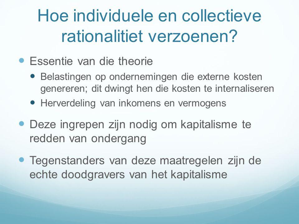 Hoe individuele en collectieve rationalitiet verzoenen.