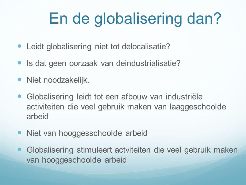 En de globalisering dan. Leidt globalisering niet tot delocalisatie.