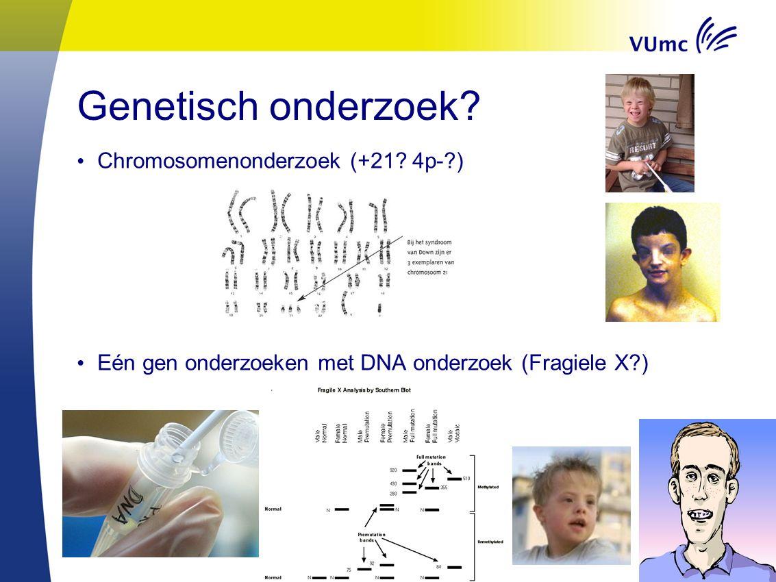 16 Testen voor iedereen: screening Diagnostiek: advies gevraagd Bij alle pasgeborenen kan bloed onderzocht worden op 18 (veelal) erfelijke ziekten
