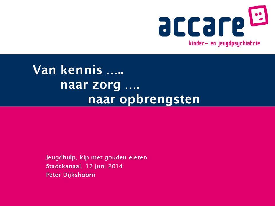 Jeugdhulp, kip met gouden eieren Stadskanaal, 12 juni 2014 Peter Dijkshoorn Van kennis …..