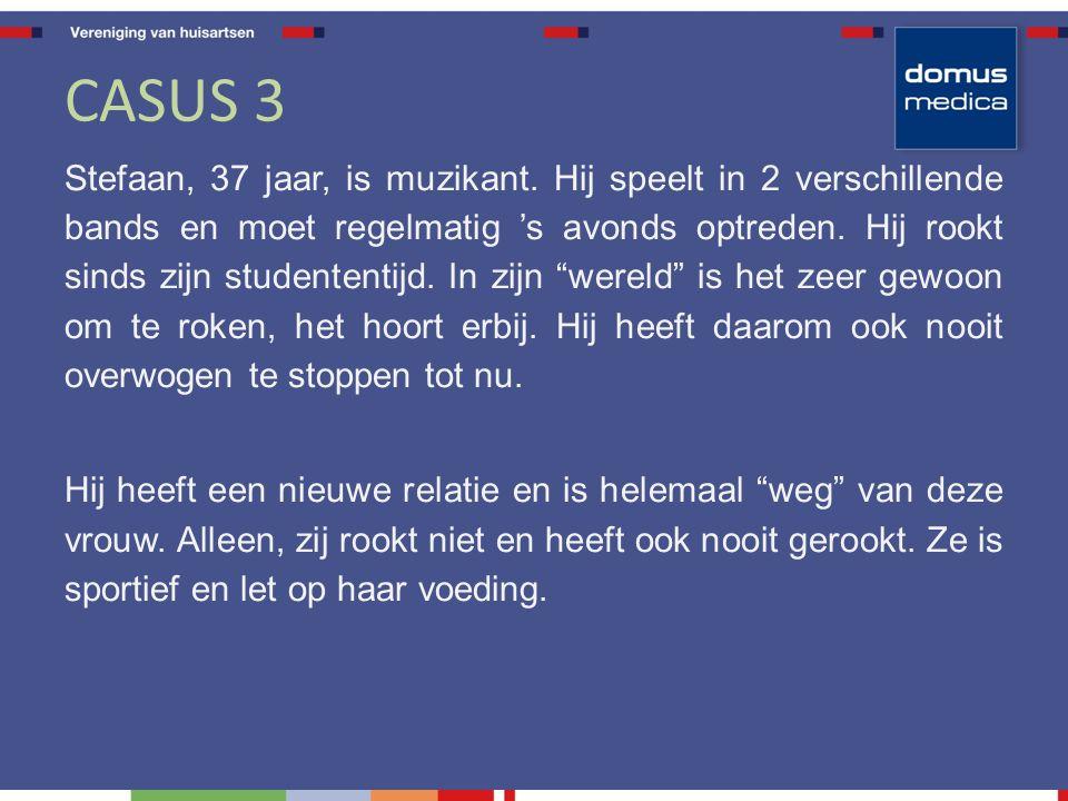 CASUS 3 Stefaan, 37 jaar, is muzikant.