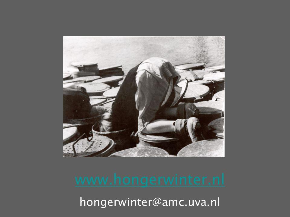 www.hongerwinter.nl hongerwinter@amc.uva.nl