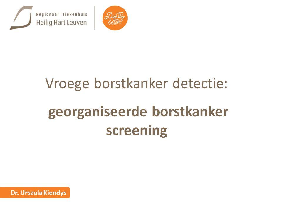 Vroege borstkanker detectie: georganiseerde borstkanker screening