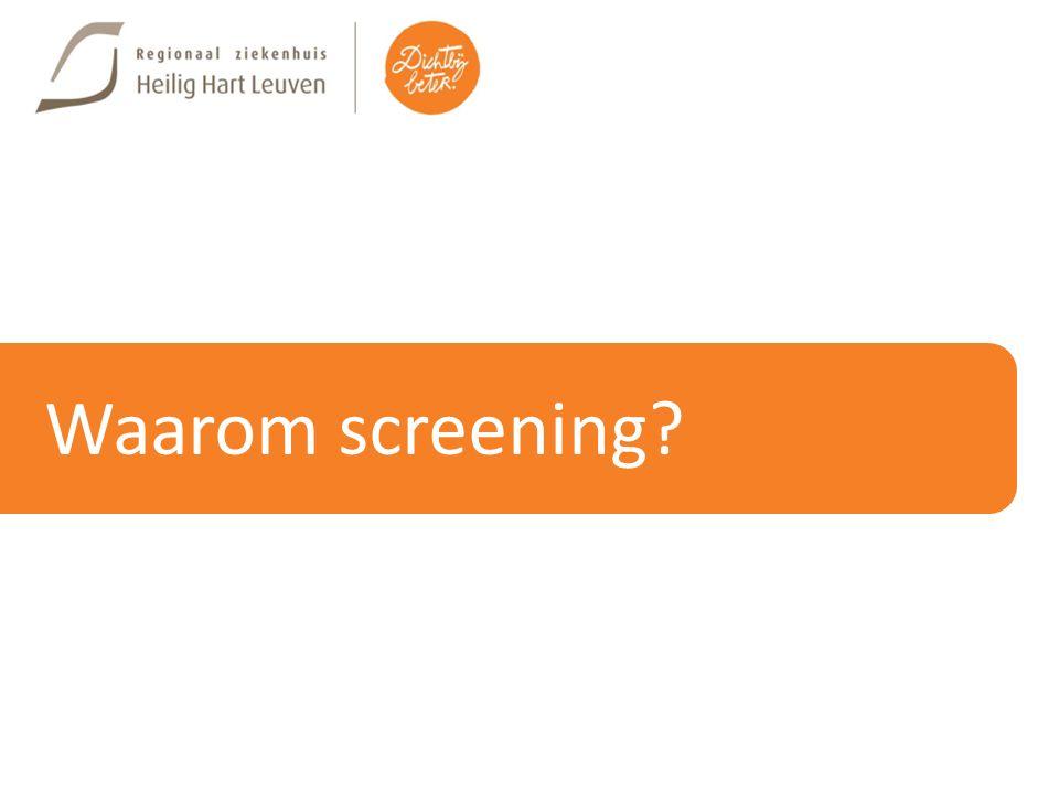 Waarom screening?