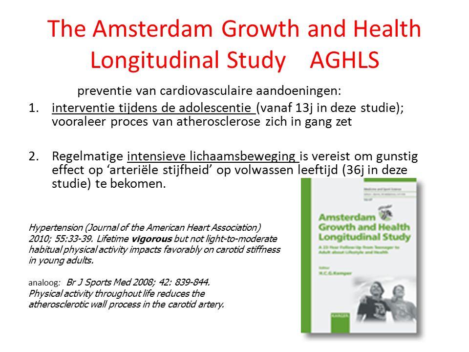 The Amsterdam Growth and Health Longitudinal Study AGHLS preventie van cardiovasculaire aandoeningen: 1.interventie tijdens de adolescentie (vanaf 13j