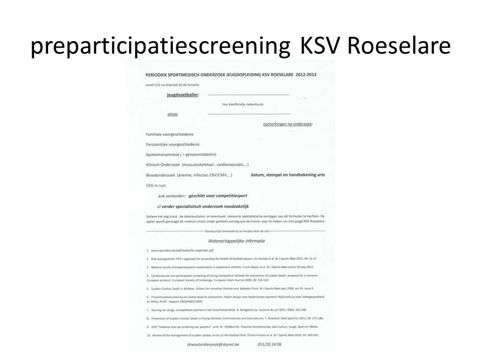 preparticipatiescreening KSV Roeselare