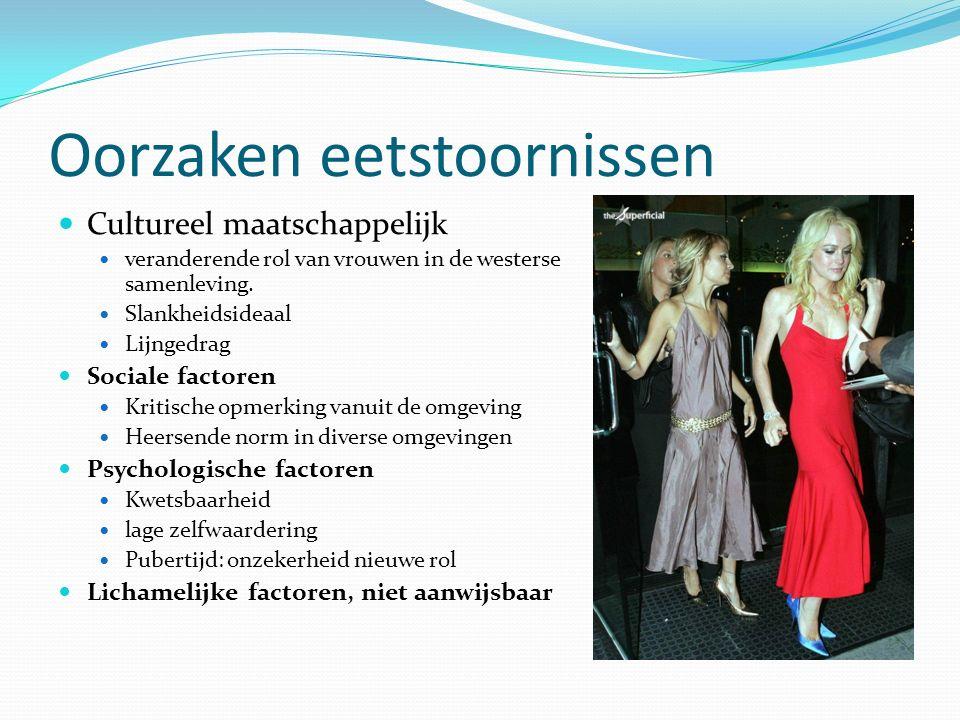 DSM-IV In het handboek DSM-IV zijn twee eetstoornissen beschreven: Anorexia nervosa(magerzucht): men zal er alles aan doen om heimelijk wegen te vinden niet te hoeven eten.