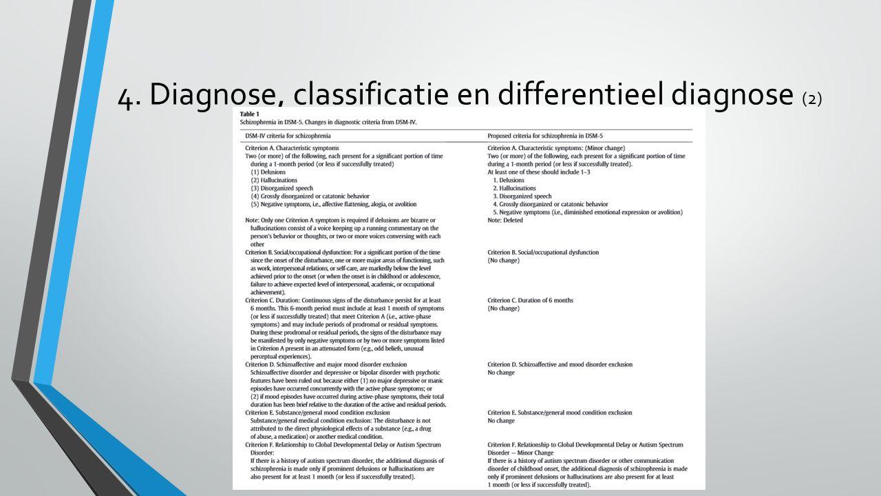 4. Diagnose, classificatie en differentieel diagnose (2)