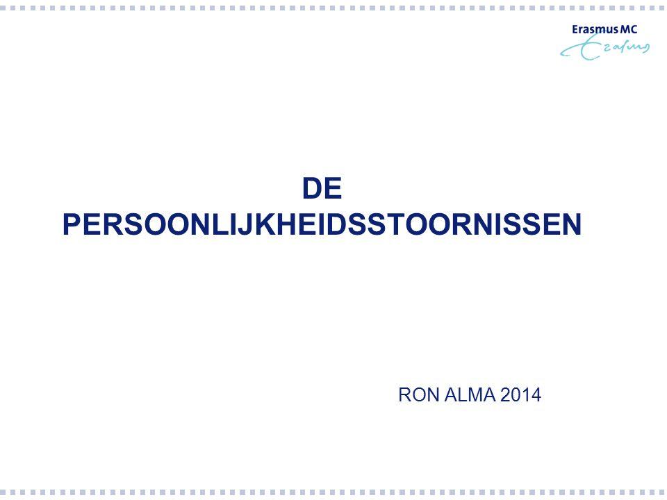 RON ALMA 2014 DE PERSOONLIJKHEIDSSTOORNISSEN