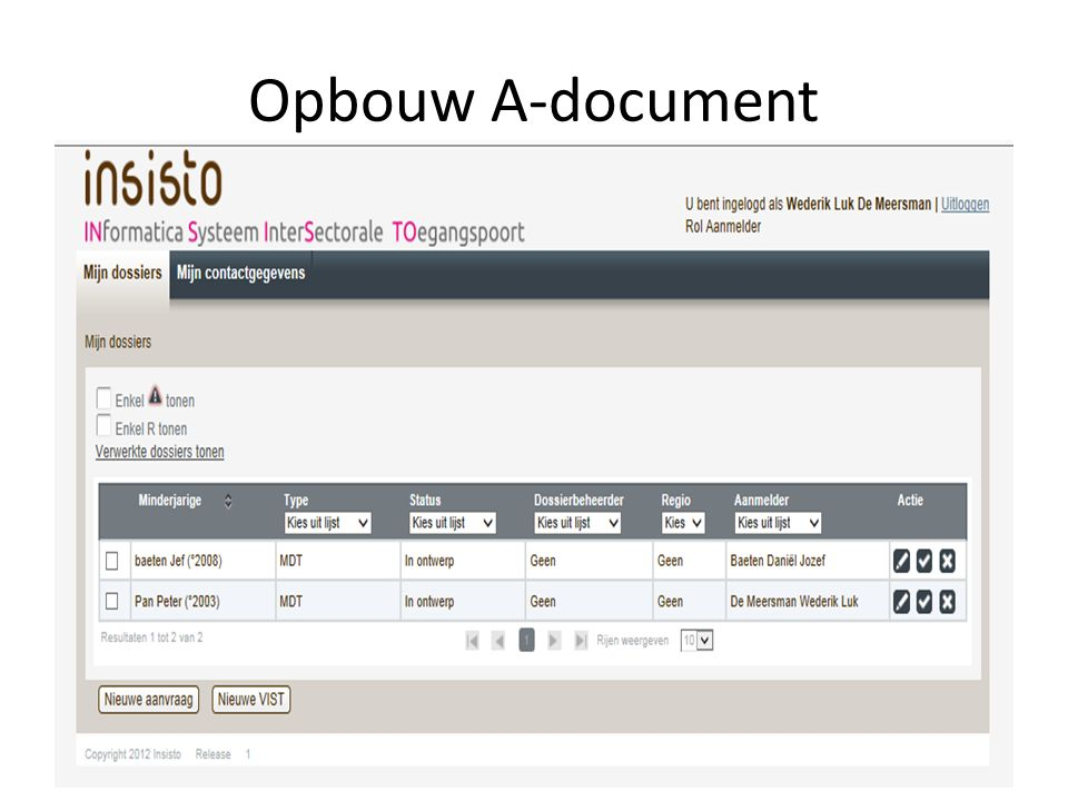 Opbouw A-document