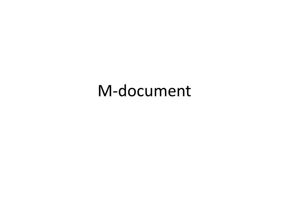 M-document