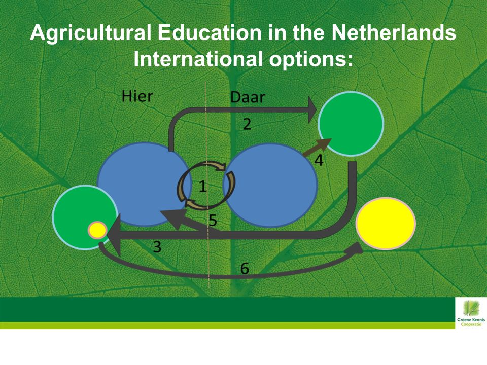 Agricultural Education in the Netherlands International options: