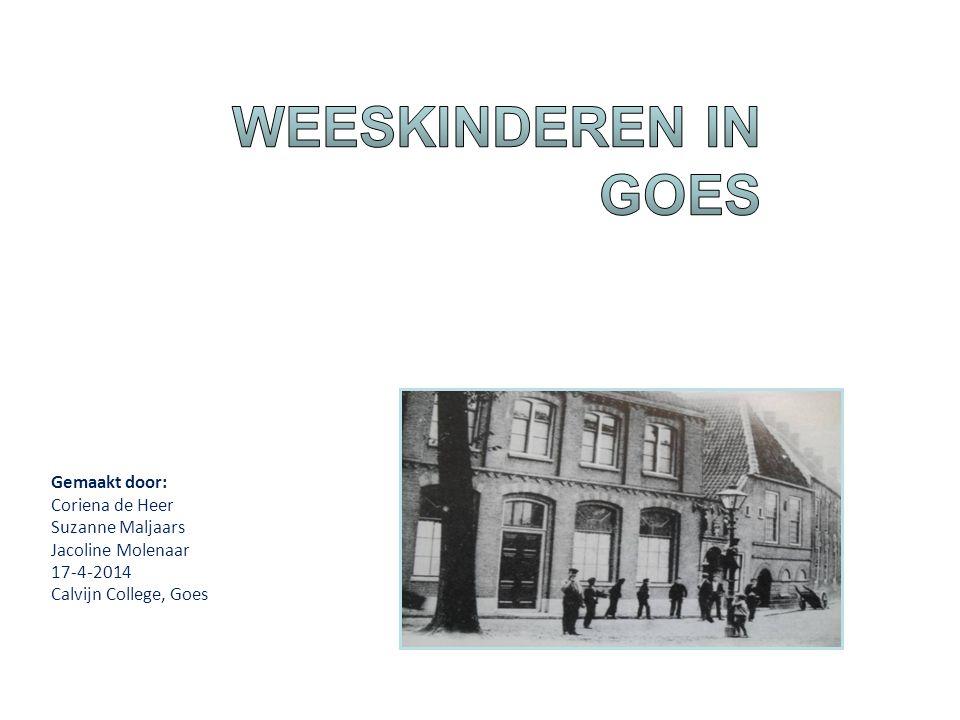 Historisch onderzoek Gemeentearchief Goes Gemaakt door: Coriena de Heer Suzanne Maljaars Jacoline Molenaar 17-4-2014 Calvijn College, Goes