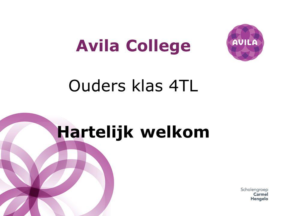 Avila College Ouders klas 4TL Hartelijk welkom