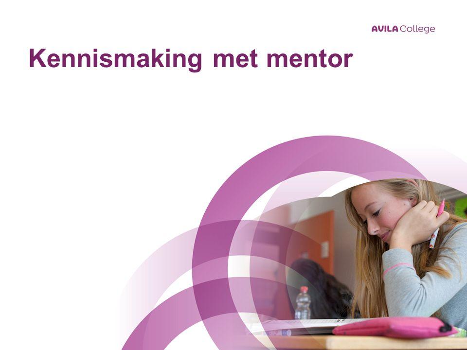 Kennismaking met mentor