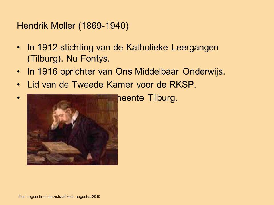 Een hogeschool die zichzelf kent, augustus 2010 In 1912 stichting van de Katholieke Leergangen (Tilburg).