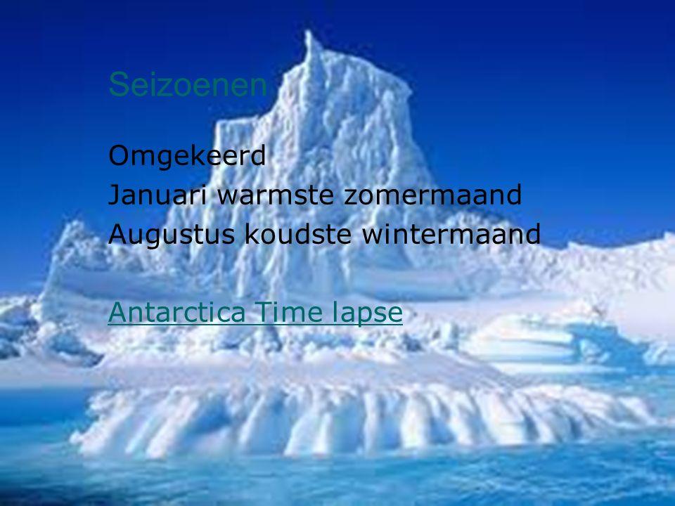 Seizoenen Omgekeerd Januari warmste zomermaand Augustus koudste wintermaand Antarctica Time lapse