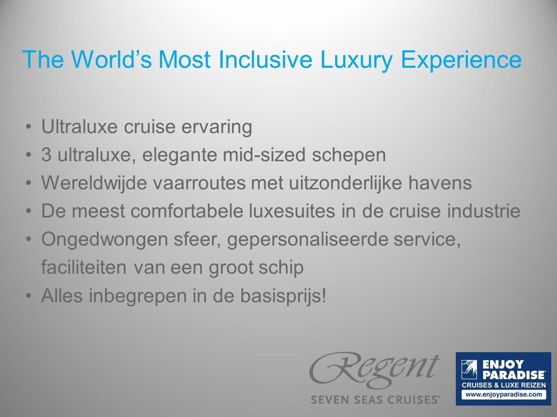Prijsvergelijking deel 2 cruisemaatschappij RegentCelebrityAzamara Categorie Deluxe Balcony Suite Sky Suite Club Continent Suite Prijs p.p.3.159 €3.268 €3.913 € Excursies p.p.