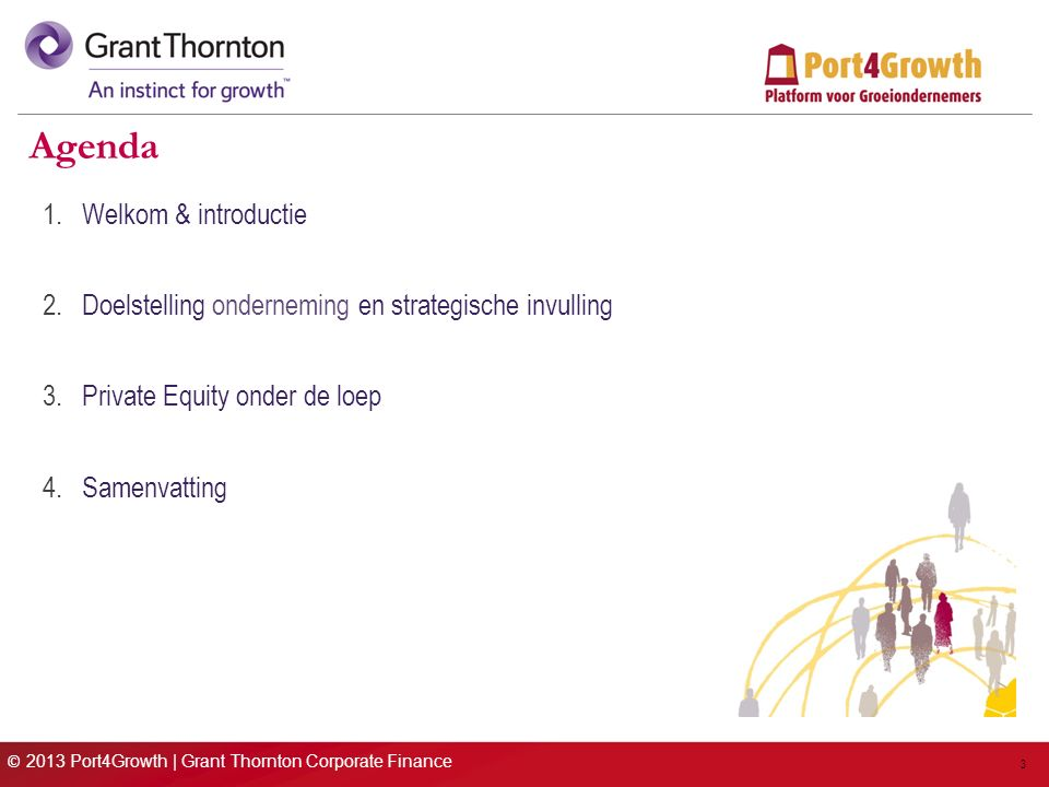 © 2013 Port4Growth | Grant Thornton Corporate Finance 14 Wanneer Private Equity.