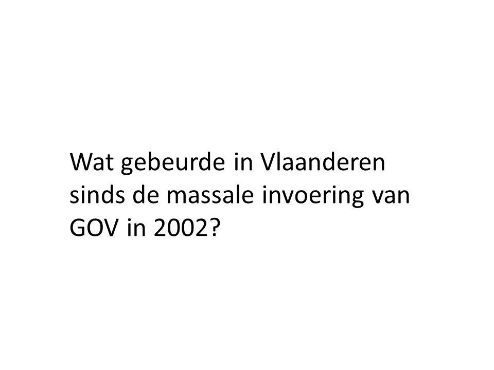 Wat gebeurde in Vlaanderen sinds de massale invoering van GOV in 2002