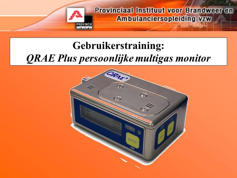Gebruikerstraining: QRAE Plus persoonlijke multigas monitor