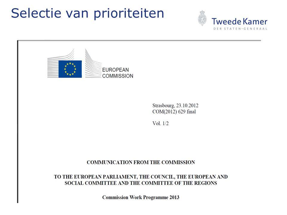Waarom EU prioriteiten TK.