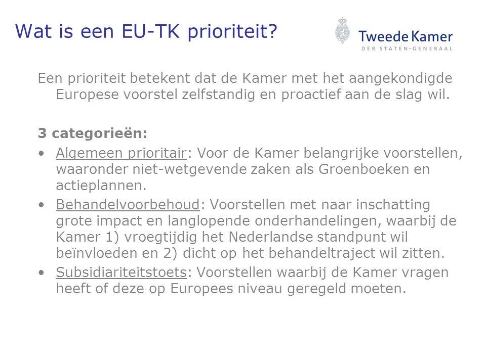 Wat is een EU-TK prioriteit.