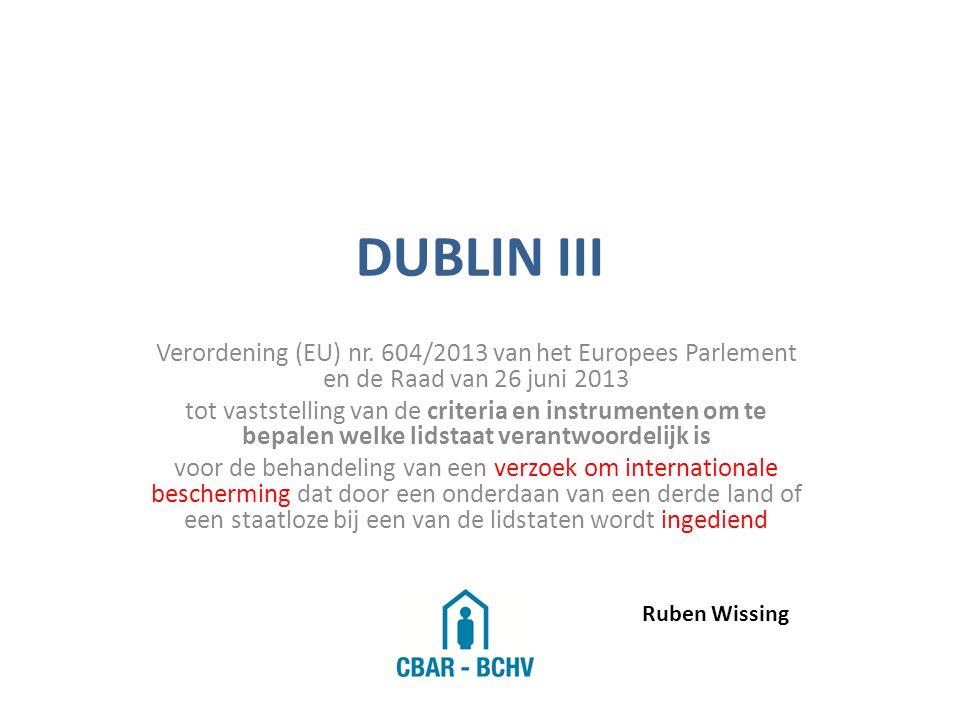 DUBLIN III Verordening (EU) nr.