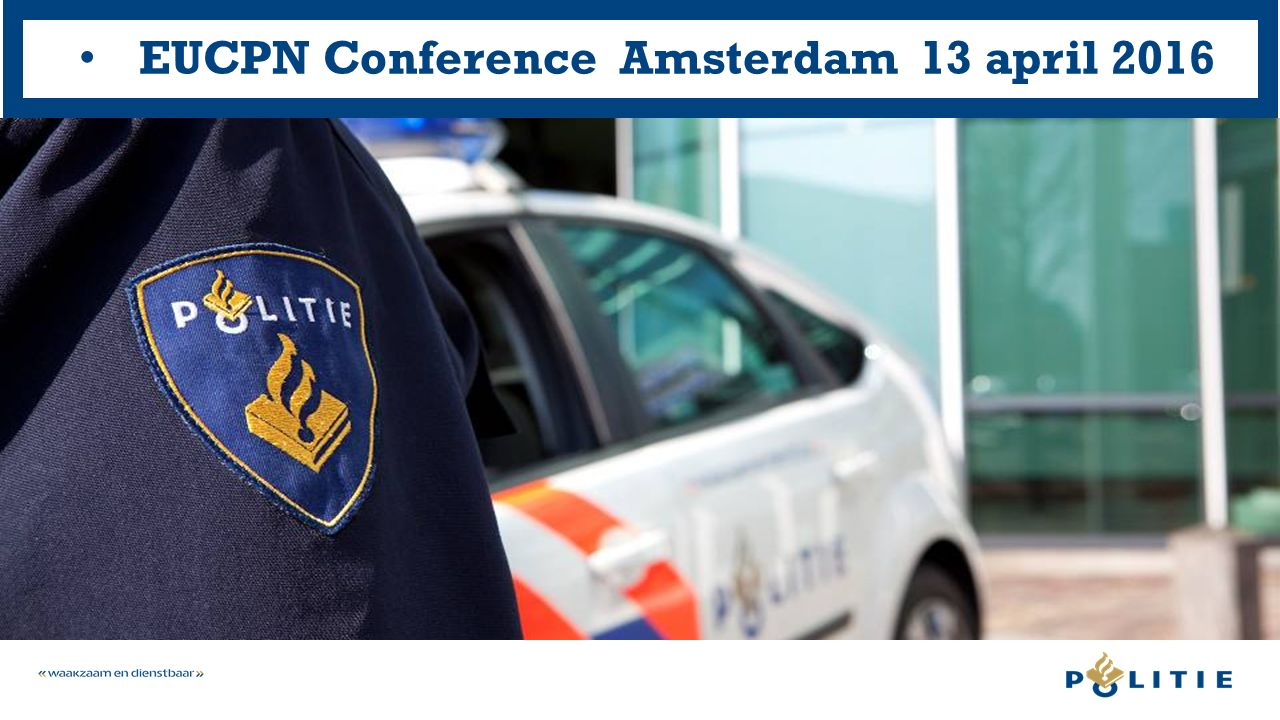 Illegal firearms  The approach of the Dutch National Police  Paul P.J.M.