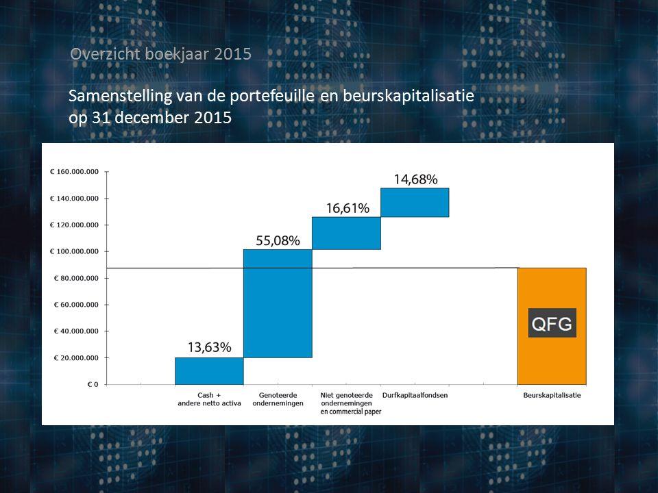 Samenstelling van de portefeuille en beurskapitalisatie op 31 december 2015