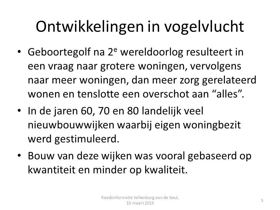 Structuurvisie Wonen Zuid-Limburg Kaders voor keuzes op Z-L schaal met ruimte voor regionale/lokale afwegingen.