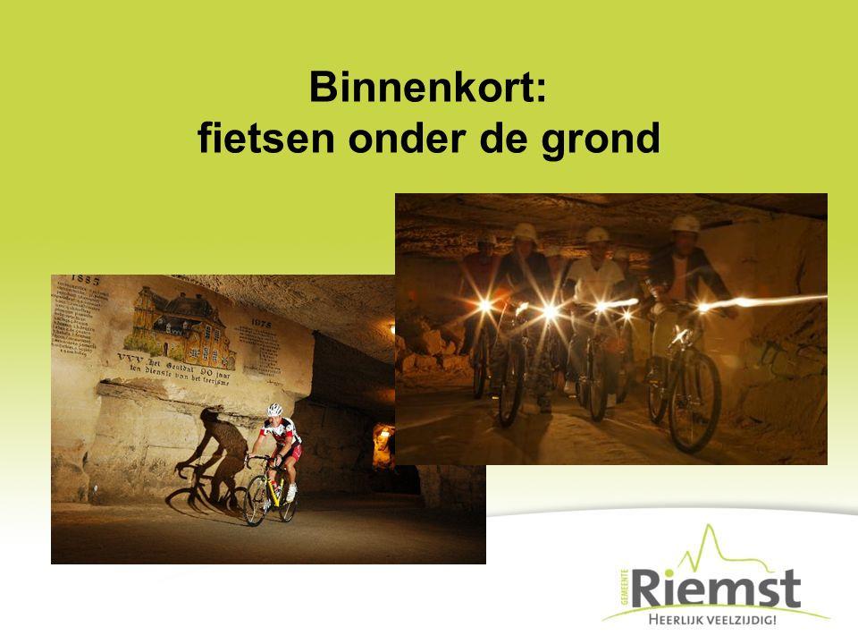 Binnenkort: fietsen onder de grond