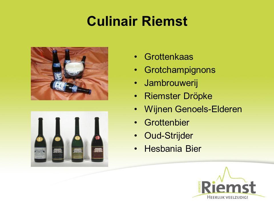 Culinair Riemst Grottenkaas Grotchampignons Jambrouwerij Riemster Dröpke Wijnen Genoels-Elderen Grottenbier Oud-Strijder Hesbania Bier